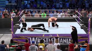 WWE 2K15 WrestleMania 30 The Undertaker vs Brock Lesnar with Paul Heyman