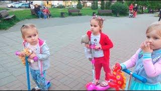 ВЛОГ Детский день! Где нас только не носило/ Алина и Мими Лисса играют VLOG