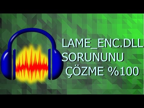AUDACİTY SESİ MP3 KAYDETME !!!! (LAME ENC DLL SORUNUNU ÇÖZME %100)