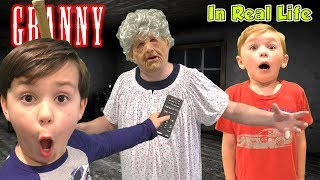 Granny Horror Game In Real Life PAUSE MOD (Kids Skit)
