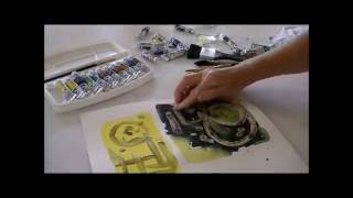 How to use liquid masking film - watercolour painting - Online Art Academy