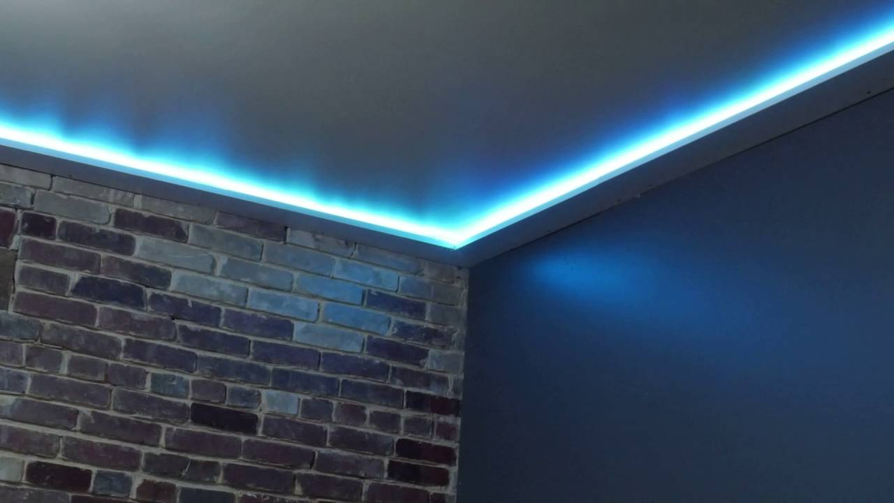 The Diy Rgb Ceiling Trim Youtube