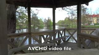 AVCHD video file  v.s.  MP 4  video file