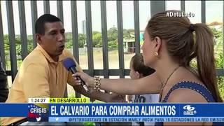 En la piel de los venezolanos: así sufren las filas para hacer mercado