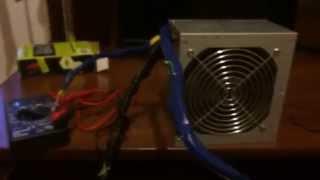 Подключение блока питания от компьютера к автомобильному уселителю (подготовка)