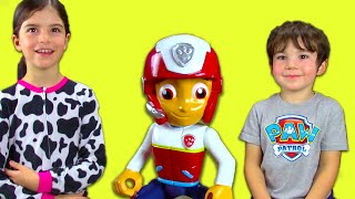 Paw Patrol Ryder Toy UNBOXING: Ryder's Rescue ATV Fire Trucks Skye Marshall Everest