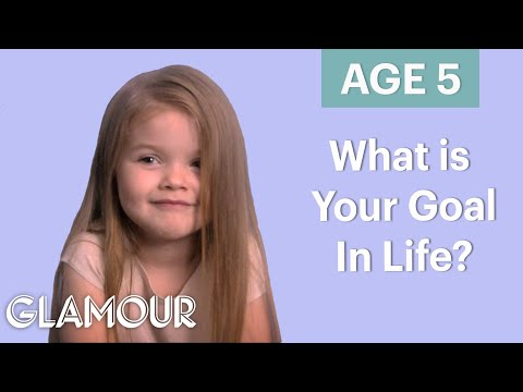 Thumbnail: 70 People Ages 5-75 Answer: What's Your Goal In Life? | Glamour
