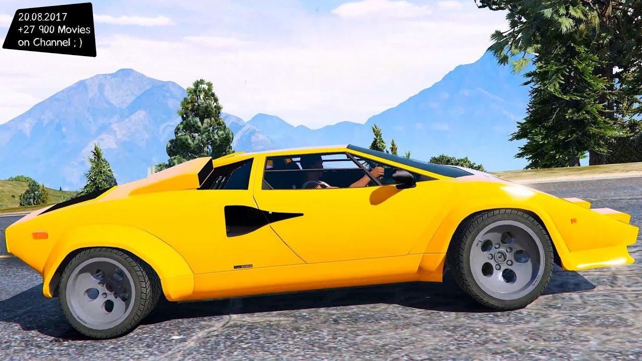 Lamborghini Countach Qv 1988 Us Spec New Enb Top Speed Test Gta Mod