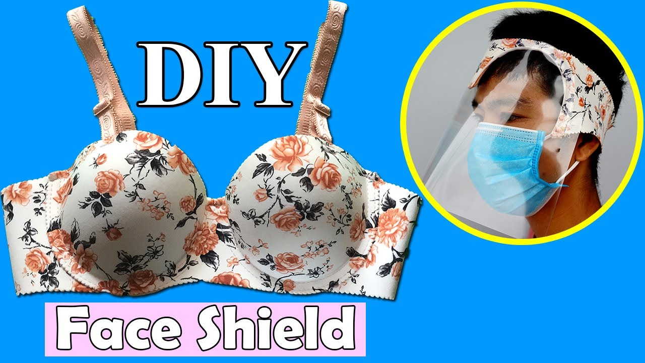 Face Mask with Shield   How to make Face Shield Mask   DIY Face Shield