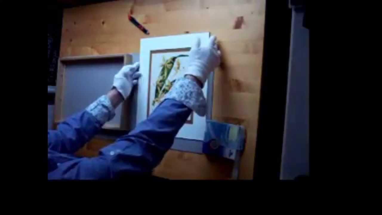 DIY: ein Bild einrahmen - framing a picture - YouTube