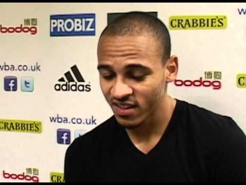 West Bromwich Albion's Peter Odemwingie on Shane Long and Marc-Antoine Fortune