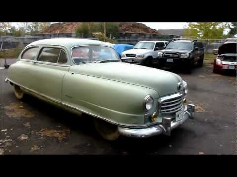 1949 Nash Ambassador Airflyte Barnfind 1st Time Driven In Over 44 Years