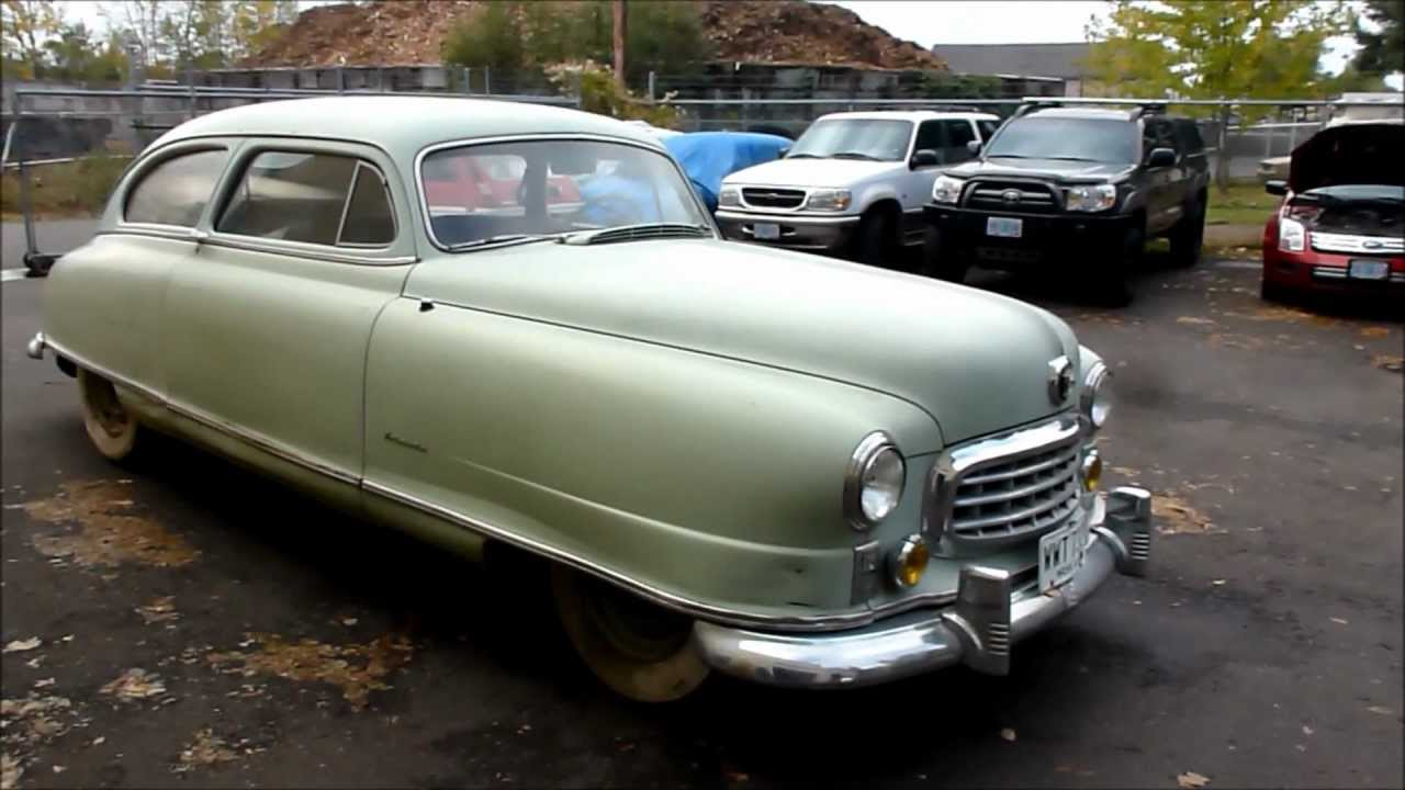 Cars 30k >> 1949 Nash Ambassador Airflyte barnfind 1st time driven in over 44 years - YouTube
