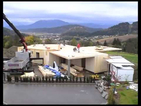 Construction Of A Single Family House With Clt Youtube