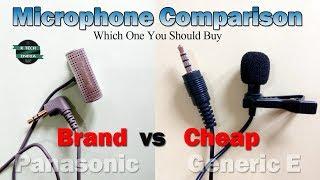 Panasonic Microphone vs Generic E Lavalier Microphone | Detailed Microphone Comparison
