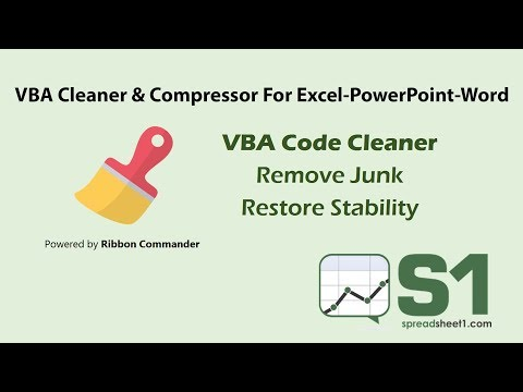 Ribbon Commander (RC) VBA Code Cleaner Preview
