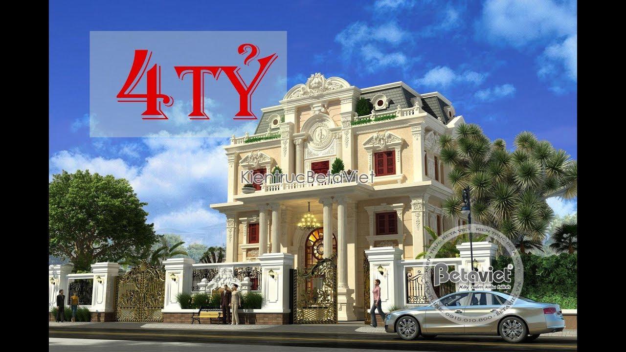 10 mẫu biệt thự 4 Tỷ kiến trúc đẹp nhất Việt Nam
