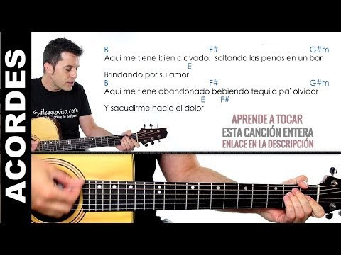 Maná - Clavado en un Bar Acordes guitarra como tocar maná en guitarra
