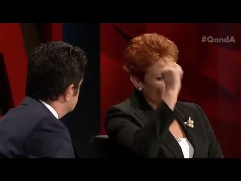 Pauline Hanson gives Sonia Kruger a fist-pump for her Muslim ban