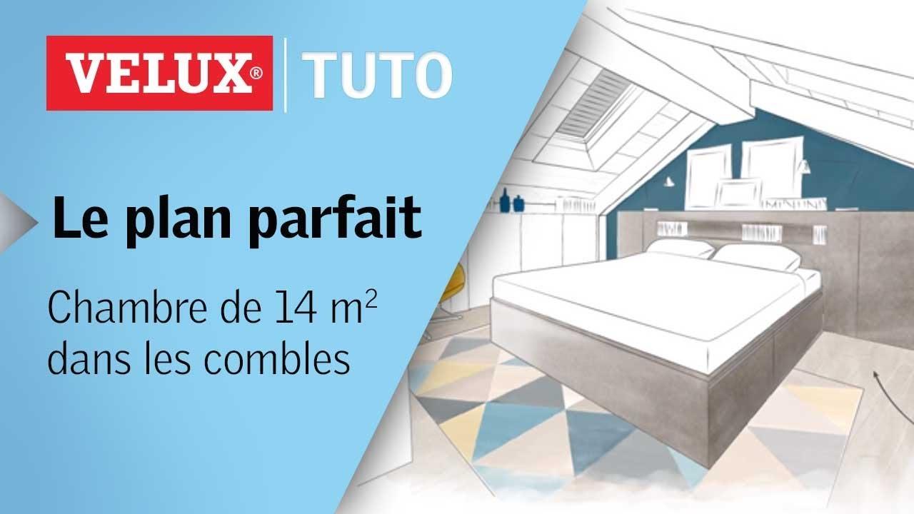Amenager Une Salle De Bain De 10M2 le plan parfait : chambre de 14m² dans les combles
