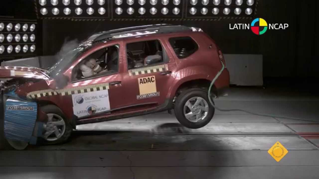 crash test com renault duster youtube. Black Bedroom Furniture Sets. Home Design Ideas
