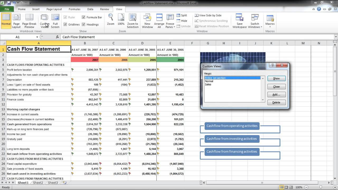 worksheet Excel Worksheet View how to create multiple custom worksheet views in excel youtube excel
