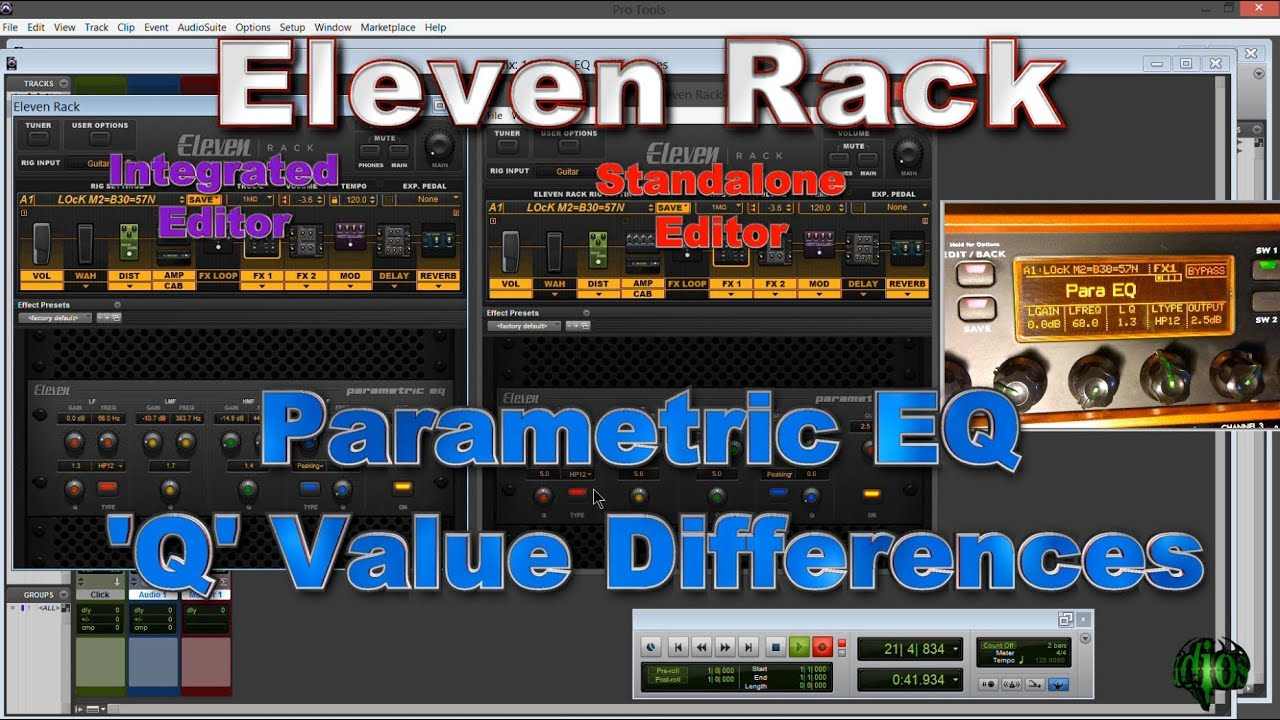 Eleven Rack - Parametric EQ 'Q' Differences on the Standalone Editor