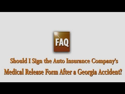 Which Insurance Document Could HURT Your Georgia Personal Injury Case if You Sign It?