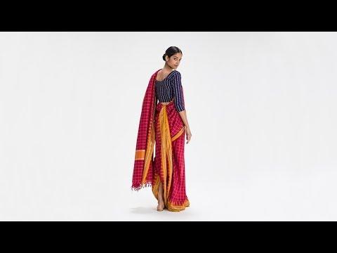 How To Drape a Sari: No. 4 Gochi Kattu Drape - Andhra Pradesh, India