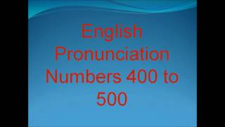 Learn How to Pronounce English Numbers 400 to 500 with DouglasESL