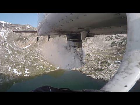 Aerial Stocking Fish In Colorado's Mountain Lakes
