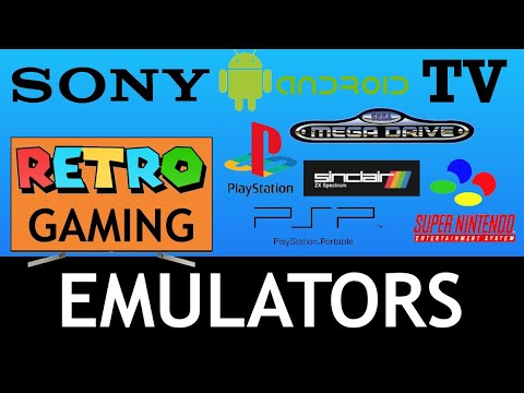 Sony Android TV 8.0 Retro Gaming Emulators