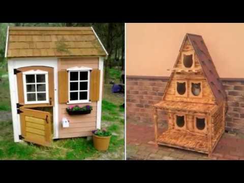 Уличные домики для кошек на даче
