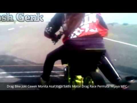 Drag Bike Joki Cewek Monita Asal Jogja Sadis Motor Drag Race Permata Wijaya MFC