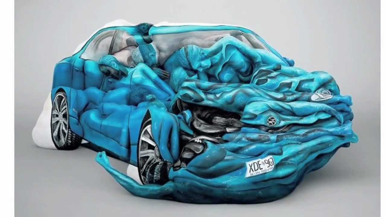car art made from human bodies youtube