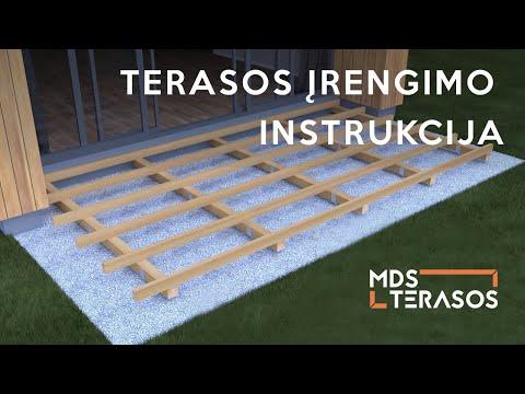 Terasos įrengimo instrukcija ant sraigtinių pamatų | DECK installation | Lauko Terasa