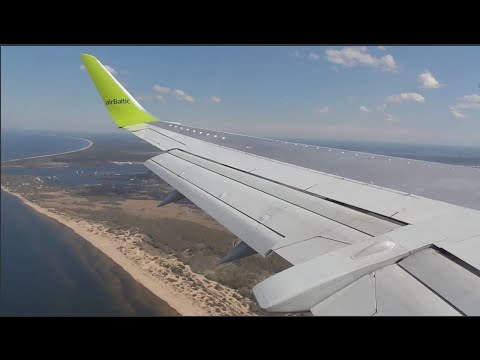 AirBaltic Boeing 737-300 Winglets | Approach and Landing at Riga Airport!
