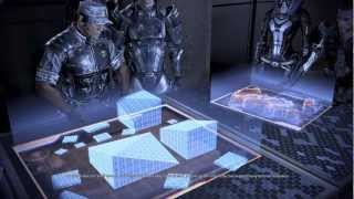 Mass Effect 3-Hammer Base + squad goodbyes (all squad members survived). Tali love interest.