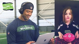 Russell Wilson Watches Children's Messages | 2019 Seattle Seahawks