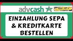 AdvCash Geld Einzahlen mit Banküberweisung | AdvCash Karte Bestellen Deutsch | Einzahlung Sepa