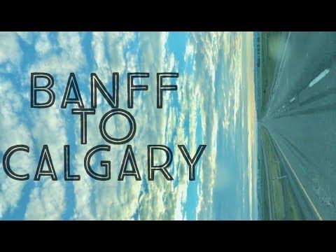 Banff to Calgary Airport   Alberta Canada
