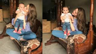 Minal Khan Spending Time With a Cute Baby