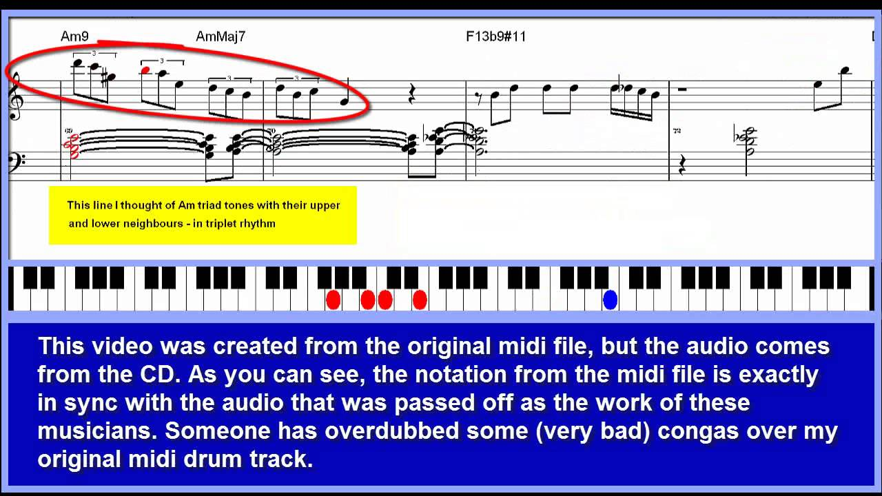 'Rain Waltz' (Fred Hersch) - Jazz piano tutorial