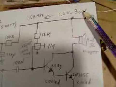 nasty sound generator (noise, beep + locomotive sound) with 10 Watt loudspeaker box