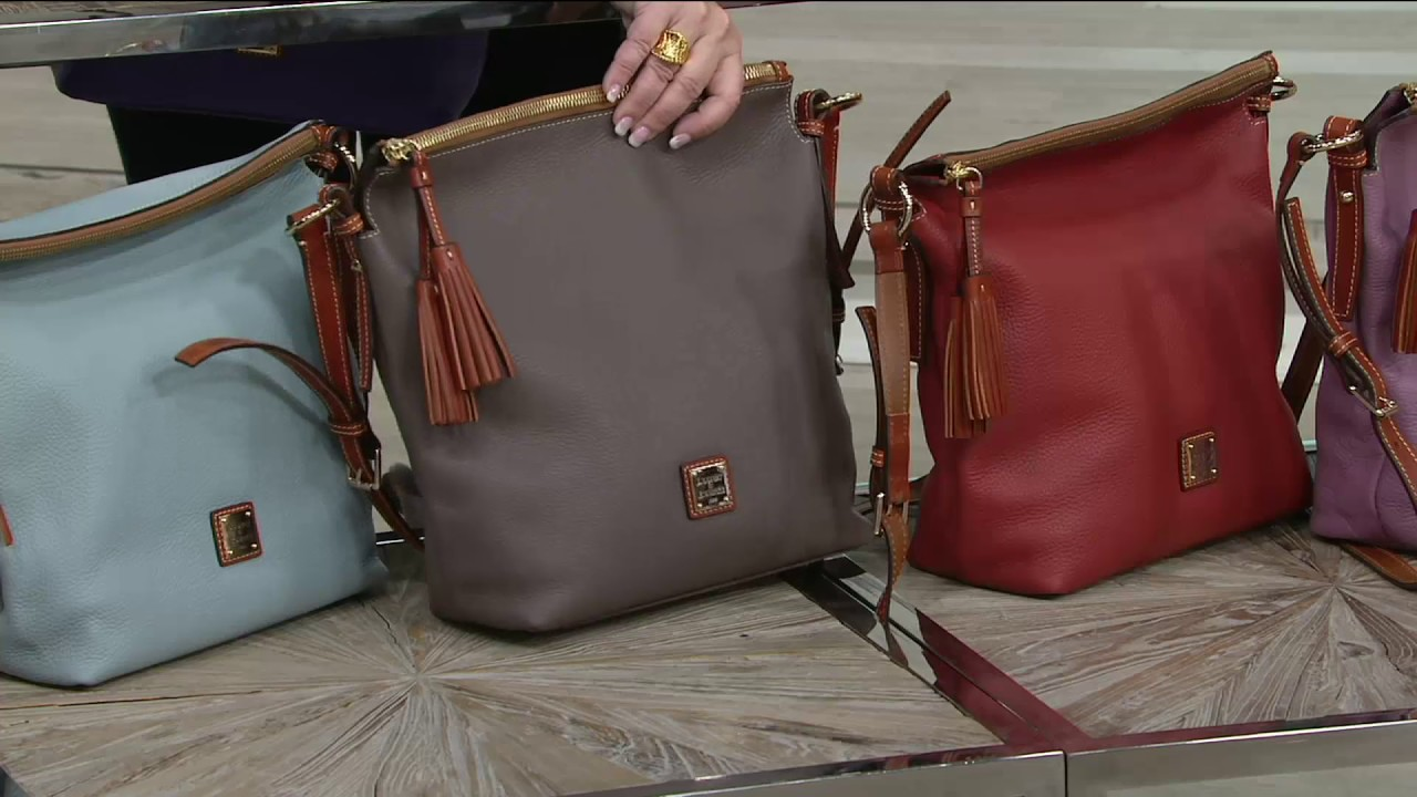 0162d646b0ea Dooney   Bourke Pebble Leather Small Dixon Crossbody Bag on QVC ...