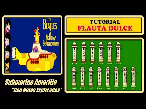 Beatles - Yellow Submarine | Recorder Notes Tutorial
