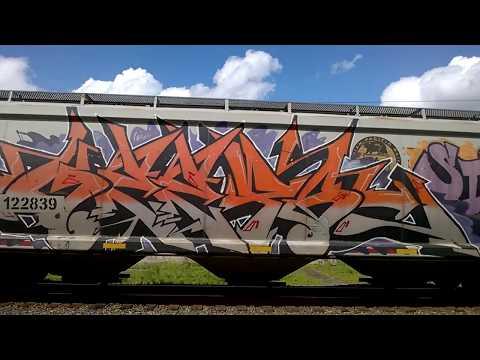 Graffiti Freight Bench #1 Portland Oregon Mothers day 2017