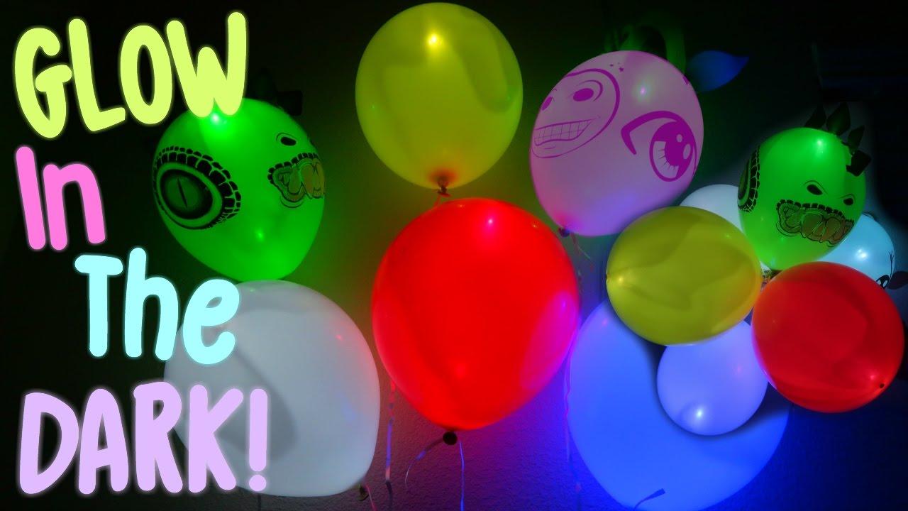 GLOW IN THE DARK BALLOONS Amazing Glow In The Dark Party Balloons DIY
