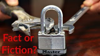 The TRUTH about HOW TO OPEN a MASTER LOCK with a NUT wrench!