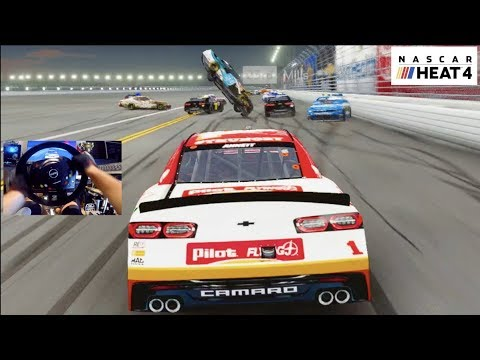 NASCAR HEAT 4 GoPro - Dodge The Wreck Challenge!! FIRST IMPRESSIONS!!